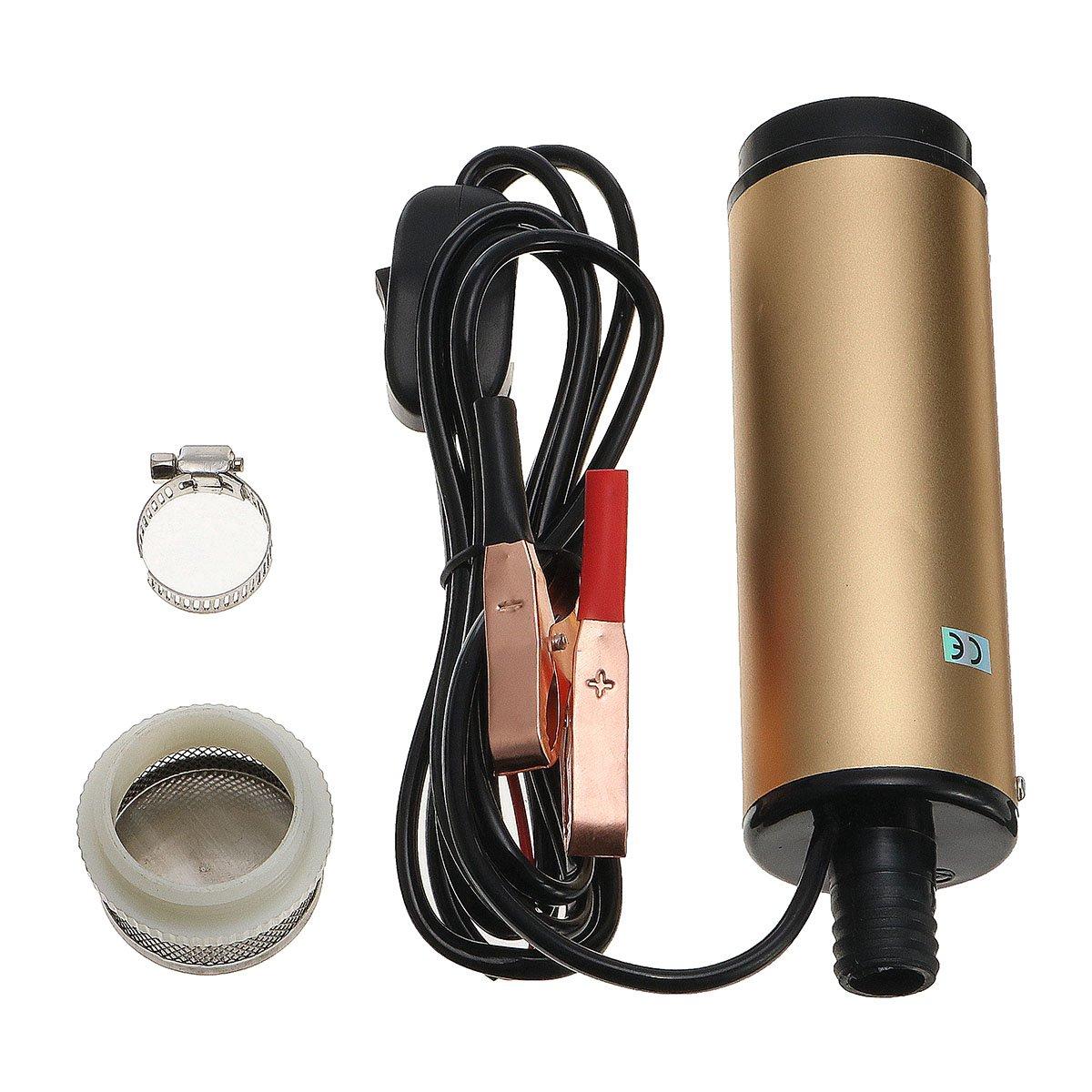Alamor Dc 12V/24V Sumergible Diesel Agua Aceite Líquido Eléctrico De Transferencia De Combustible Bomba Filer - 24V: Amazon.es: Hogar