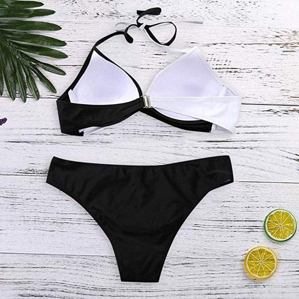 CheChury Bikinis Mujer 2020 Push Up Halter Bikini Traje de ba/ño Acolchado Bra Tops y Braguitas Bikini Sets Talla Grande Ba/ñador Vacaciones