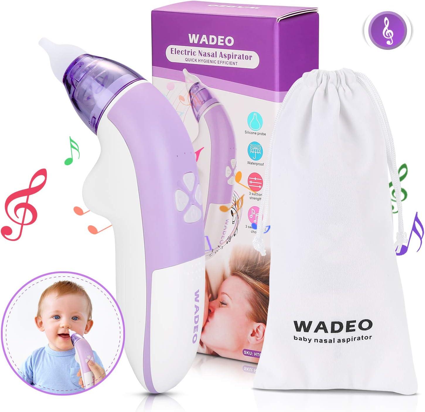 WADEO Aspirador Nasal Bebes Electrico Seguro Limpiar Nariz Bebe ...
