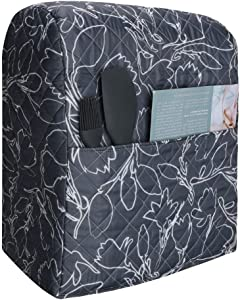 Kitchen Aid Mixer Dust Cover,Diamond Collection Stand Mixer Small Appliances Cover with Pockets,Compatible with All Tilt Head&Bowl Lift 5-8 Quart Kitchen Aid Mixers (Y09)