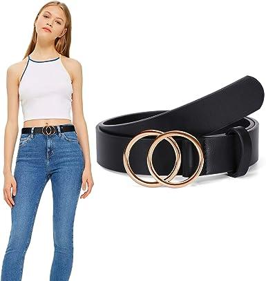 New Womens Waistband PU Leather Fashion Belts Buckle Waist For Jeans//Dress Gift