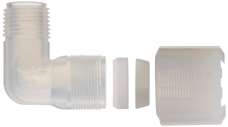 Parker Pargrip GAME-86 PFA Tube Fitting 90 Degree Elbow 1//2 Tube OD x 3//8 NPT Male