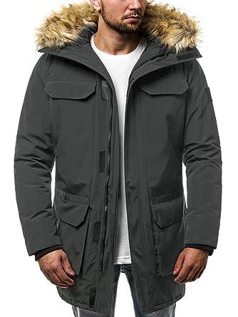 01f93840f9af OZONEE Herren Winterjacke Parka Jacke Kapuzenjacke Wärmejacke Wintermantel  Coat Wärmemantel Warm Modern Camouflage Täglichen JS 201807  Amazon.de  ...