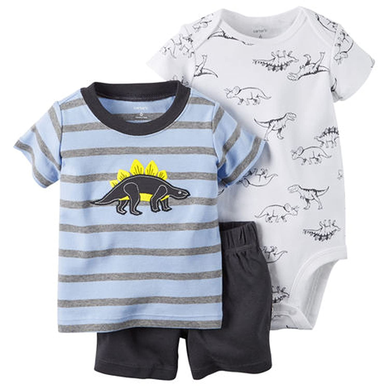 81f6cbcf2 Amazon.com: Carter's Baby Boys' 3-Piece Bodysuit & Shorts Set: Clothing