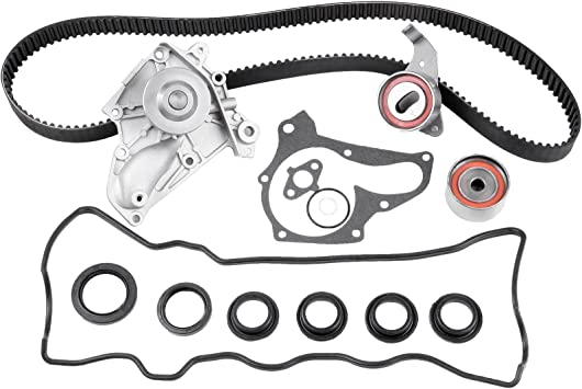SCITOO Timing Belt Water Pump Kit with Valve Cover Gasket Fits Camry Celica Solara 2.0L 2.2L 3SFE 5SFE Toyota RAV4 MR2 1987-2001