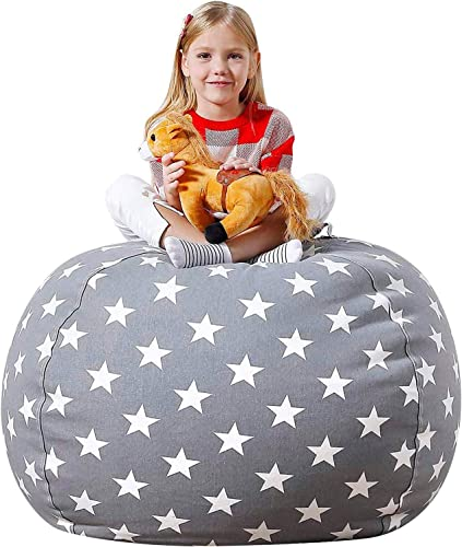 Aubliss Stuffed Animal Storage Bean Bag Chair Cover Only