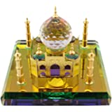 Celebrationgifts Taj Mahal Miniature Show Piece Made Of Crystal With Gold