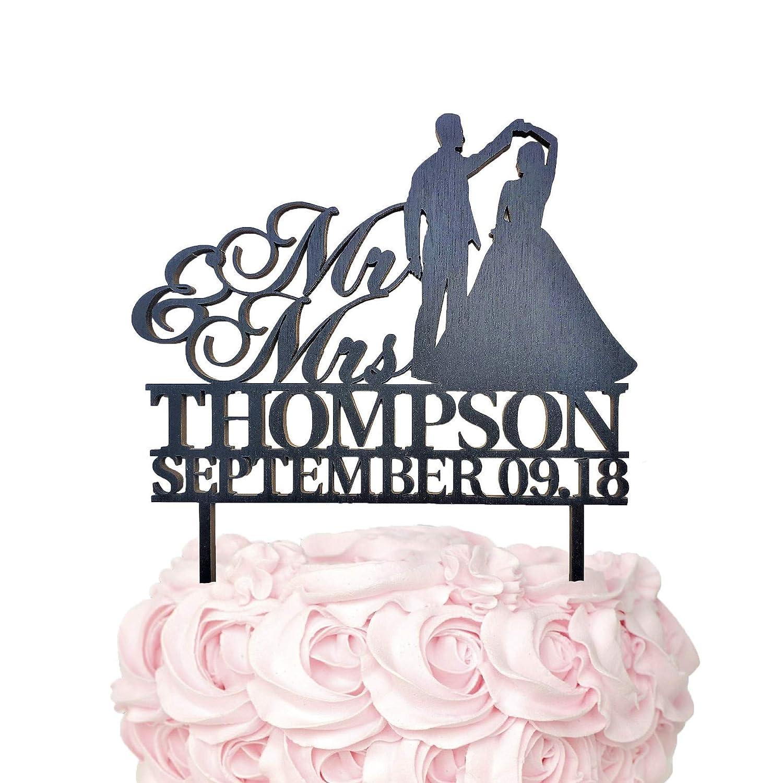 keepsake Personalised Wedding Cake Topper two names acrylic wood decoration