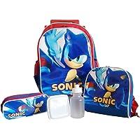 Kit Mochila de Rodinhas Sonic com Lancheira e Estojo