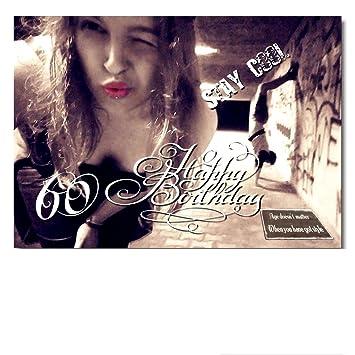 Geburtstagskarte 60 din a4