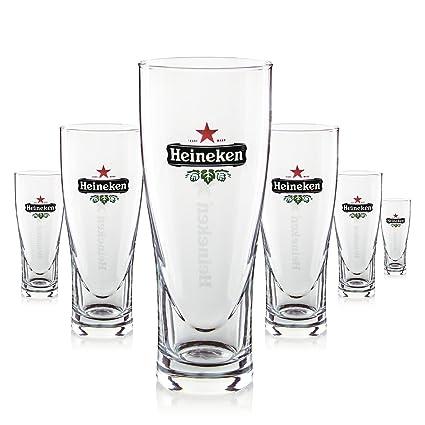 Conjunto De Vasos De Cerveza Heineken Premium - 250ml - Vasos Grabados Con La Estrella de