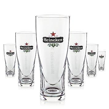 Conjunto De Vasos De Cerveza Heineken Premium - 250ml - Vasos Grabados Con La Estrella de Cinco Puntas y El Logotipo: Amazon.es: Hogar