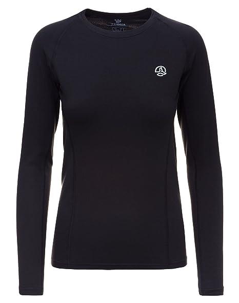 a2c7765b91 Ternua ® Camiseta Térmica Alma LS - Mujer - Negro (XS)