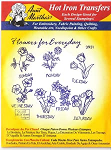 Flowers for Everyday Aunt Martha's Hot Iron Embroidery Transfer