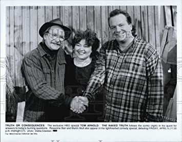 Press Photo Tom Arnold The Naked Truth Tom Arnold Roseanne Barr