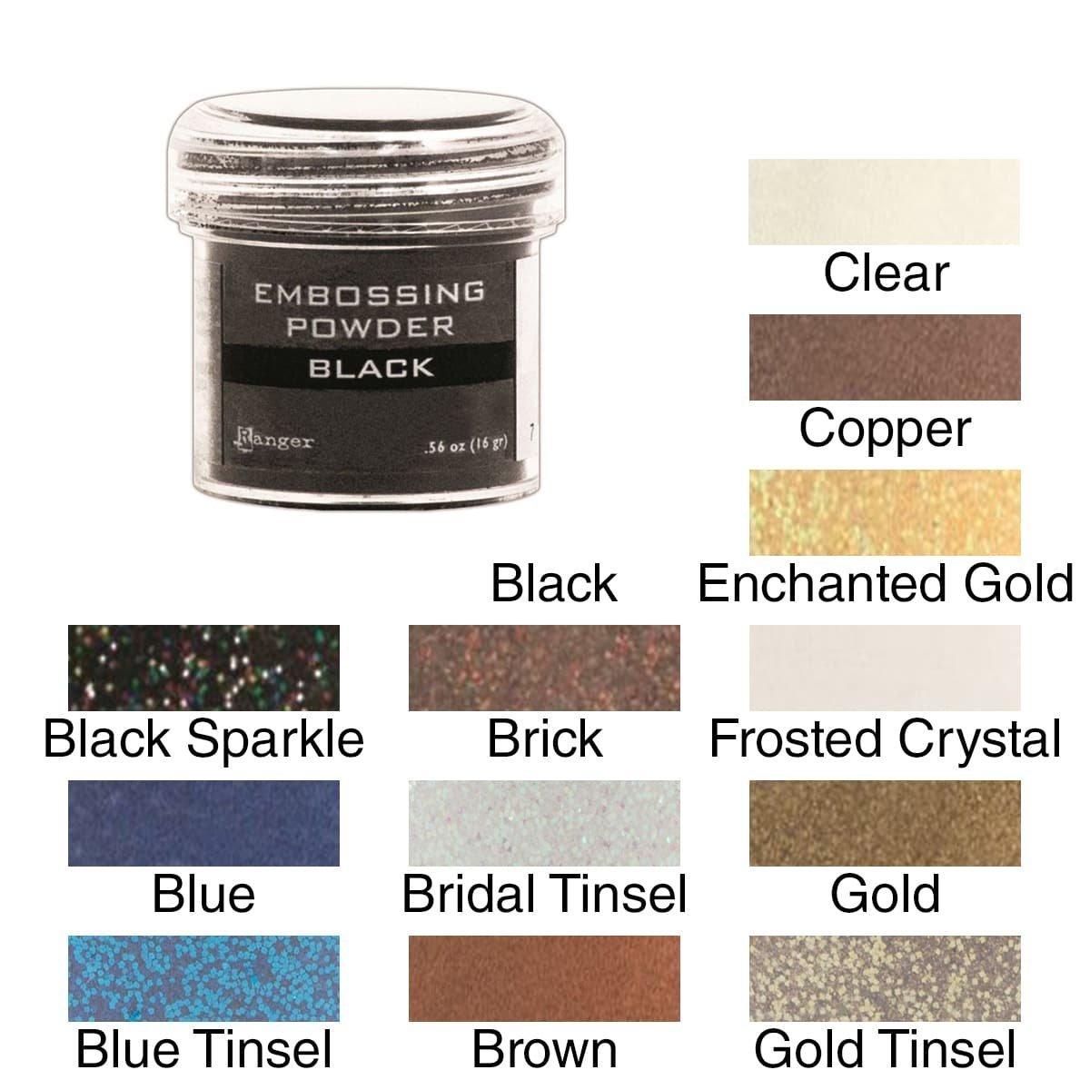 Ranger Embossing Powder Blue Tinsel 1-Ounce Jar