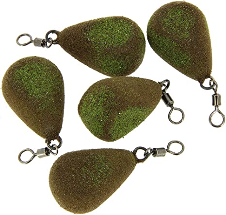 3.5oz Flat Pear  carp leads