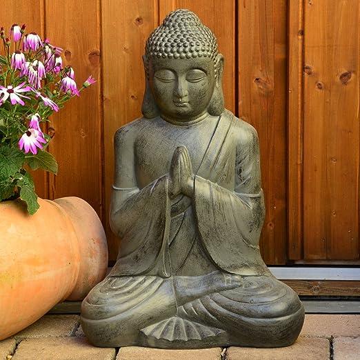 INtrenDU® Estatua XL Grande 50 cm para salón o jardín Sentado: Amazon.es: Juguetes y juegos
