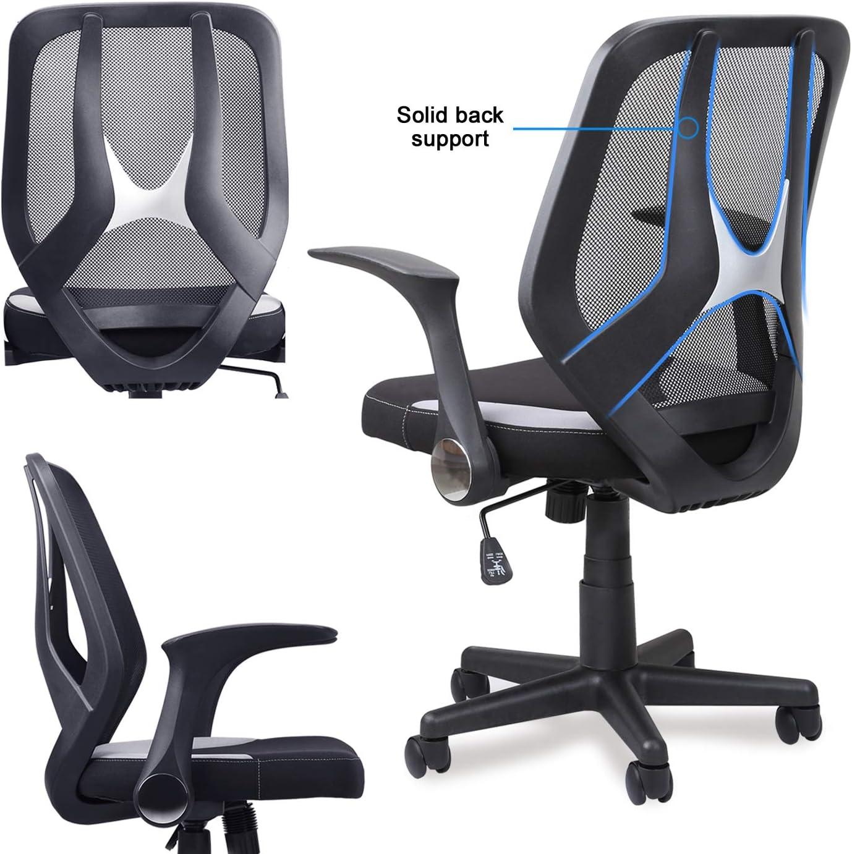 Mysuntown Mid-Back Office Chair Executive Swivel Chair Adjustable ...