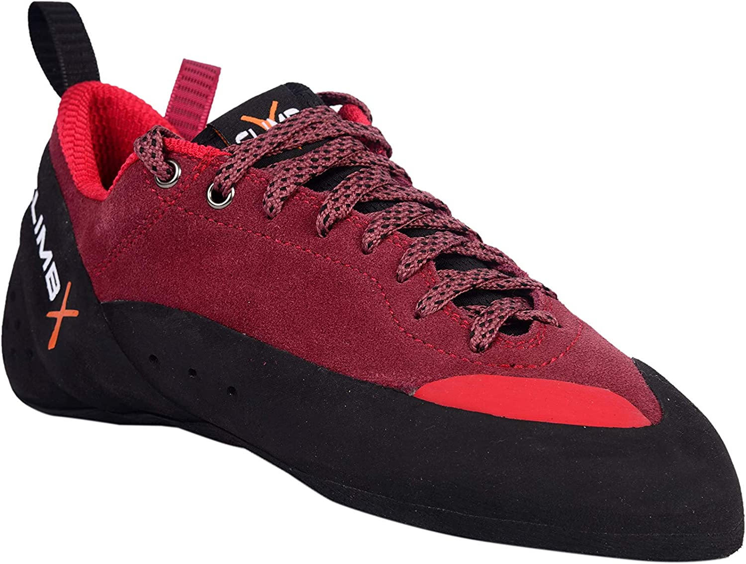 CLIMBX Crush Lace -Red- Rock Climbing/Bouldering Shoe 2019