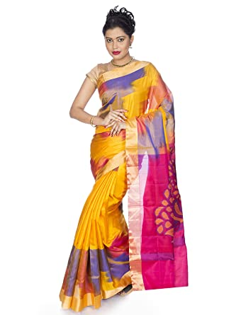 6e836409c7e47e Amazon.com: Mandakini — Indian Women's Kanchipuram - Handloom - Pure ...