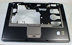 Dell New Genuine OEM Latitude D820 Laptop Palmrest Keyboard Bezel Touchpad Fringerprint Biometric Reader Mouse Button Trackpad Trak Pad GF656 w/Speakers Upper Cover