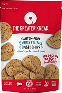 product image for Greater Knead Gluten Free Bagel Chips - Everything, Vegan, non-GMO, Free of Wheat, Nuts, Soy, Peanuts, Tree Nuts (1 Bags)