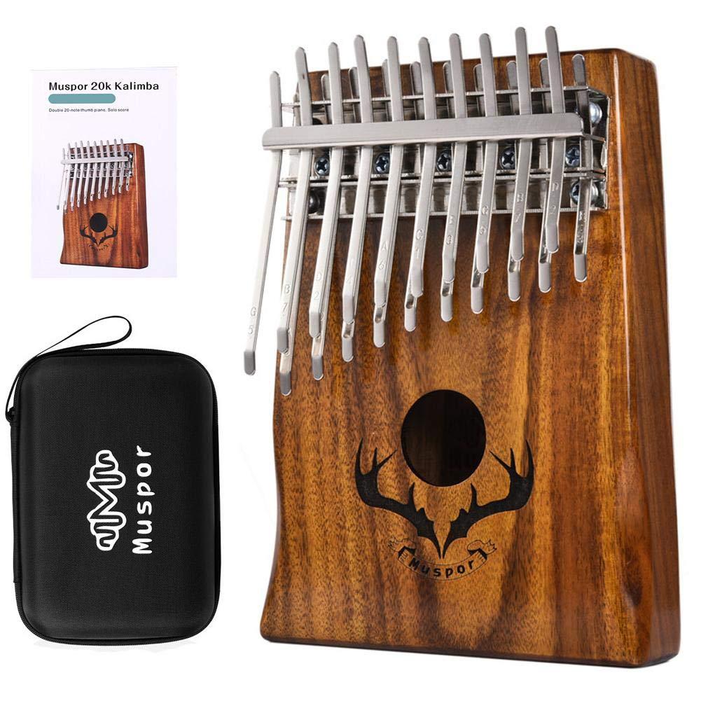 Sanmubo Trade Kalimba,Mbira, 20 Keys Thumb Piano builts-in EVA high-Performance Protective Box,Double Layer Thumb Mbira, Tuning Hammer and Study Instruction. by Sanmubo Trade