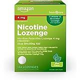 Amazon Basic Care Nicotine Polacrilex Lozenge 4 mg (nicotine), Mint Flavor, Stop Smoking Aid; quit smoking with nicotine loze