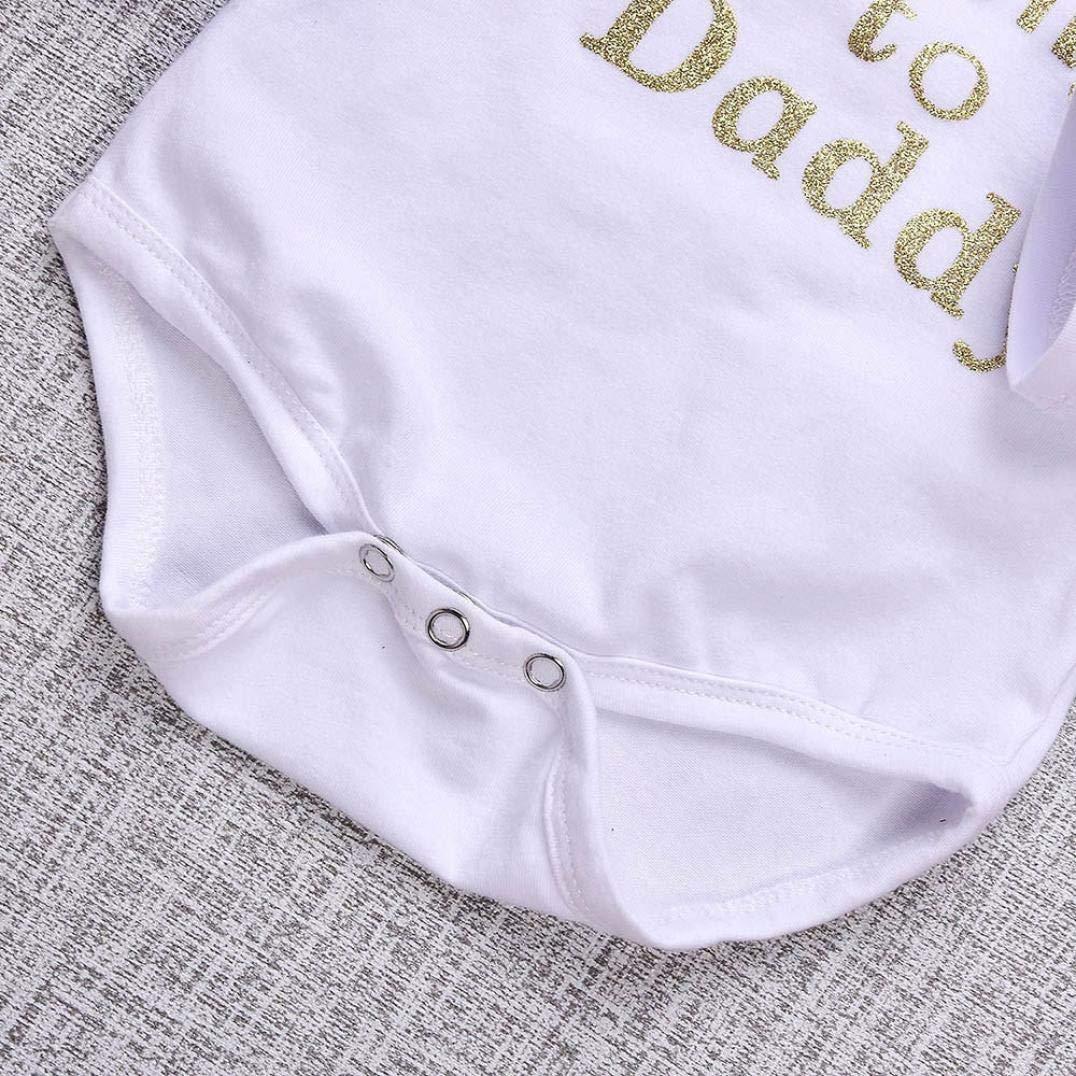Amazon.com: SRYSHKR 4PCS Toddler Baby Letter Print Romper+Heart ...