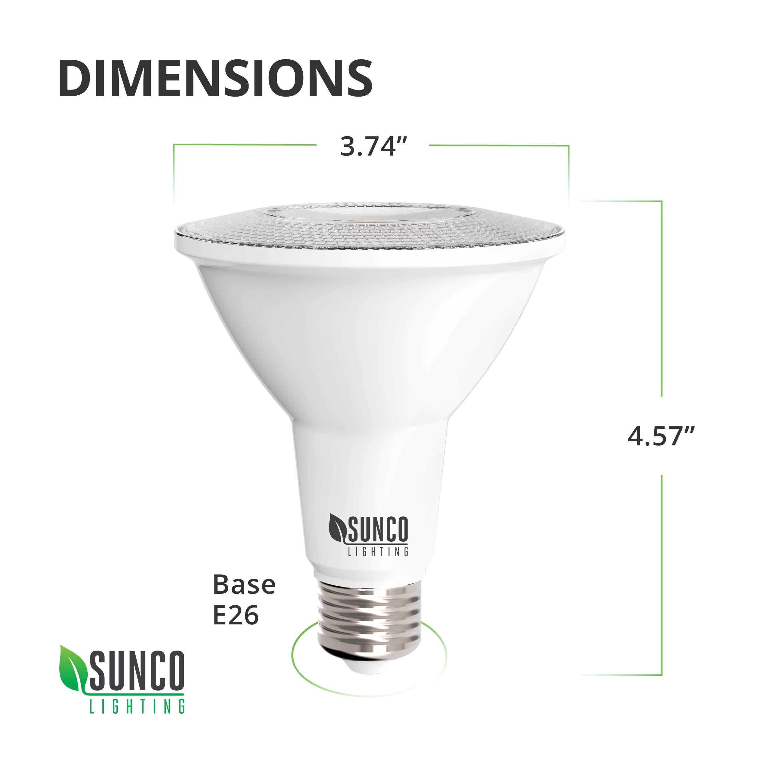 Sunco Lighting 4 Pack PAR30 LED Bulb, Dusk-to-Dawn Photocell Sensor, 11W=75W, 5000K Daylight, 850 LM, Auto On/Off Security Flood Light - UL by Sunco Lighting (Image #8)