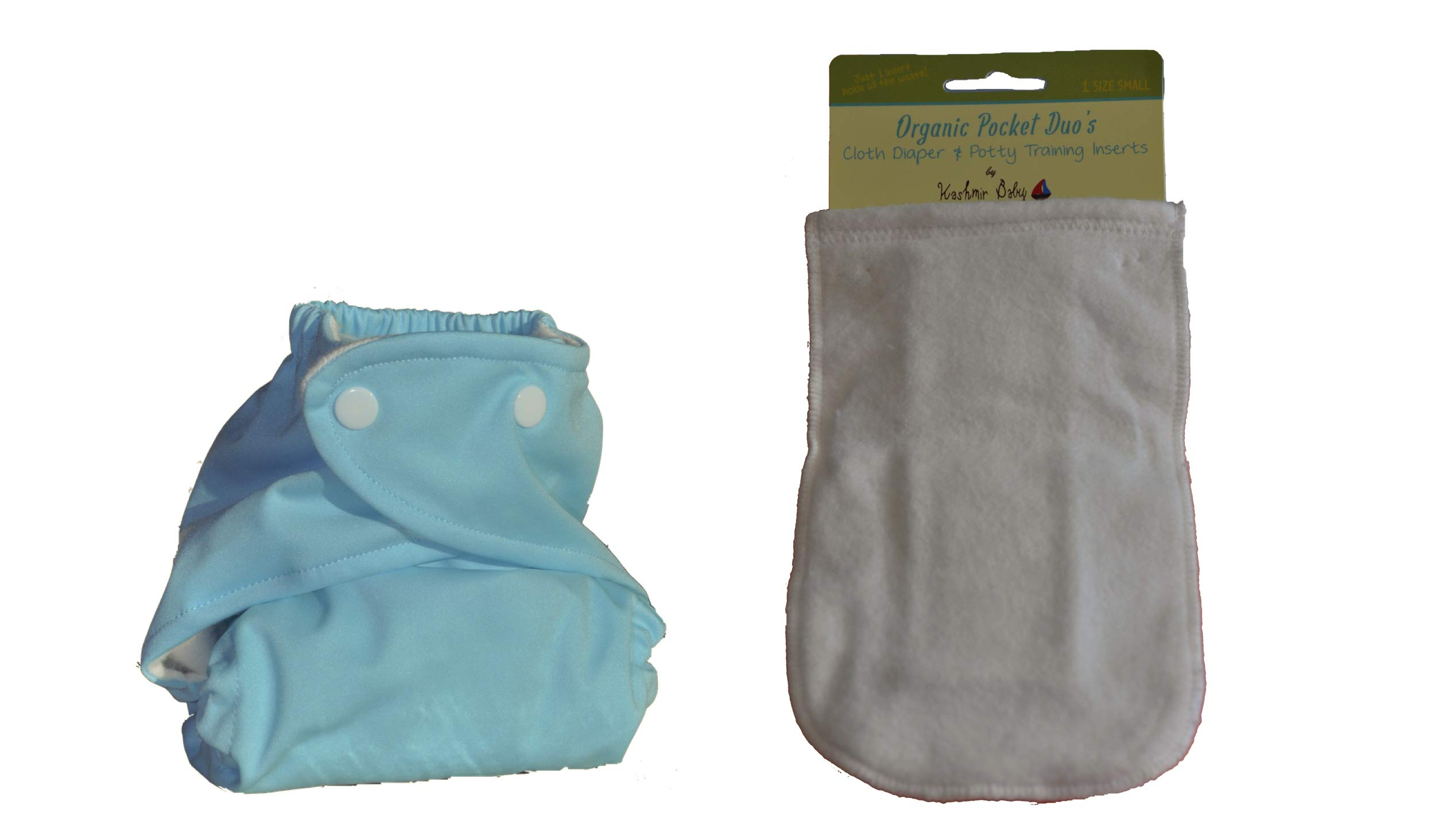 Kashmir Baby Bamboo/Organic One Size Diaper, Bamboo Insert (Baby Blue Snap) by Kashmir Baby