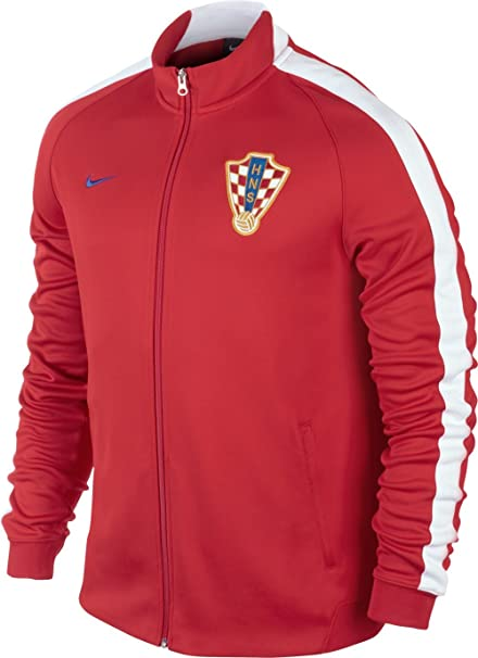 fefc8cdc Nike Men's N98 Croatia Authentic Track Jacket - University Red/White/Bright  Blue,