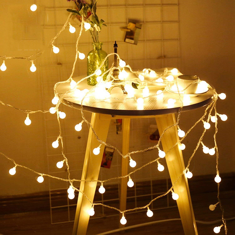 Cadena Luminosa, sunnest 10 m 80 LED Luz Guirnalda Luces Bombilla ...