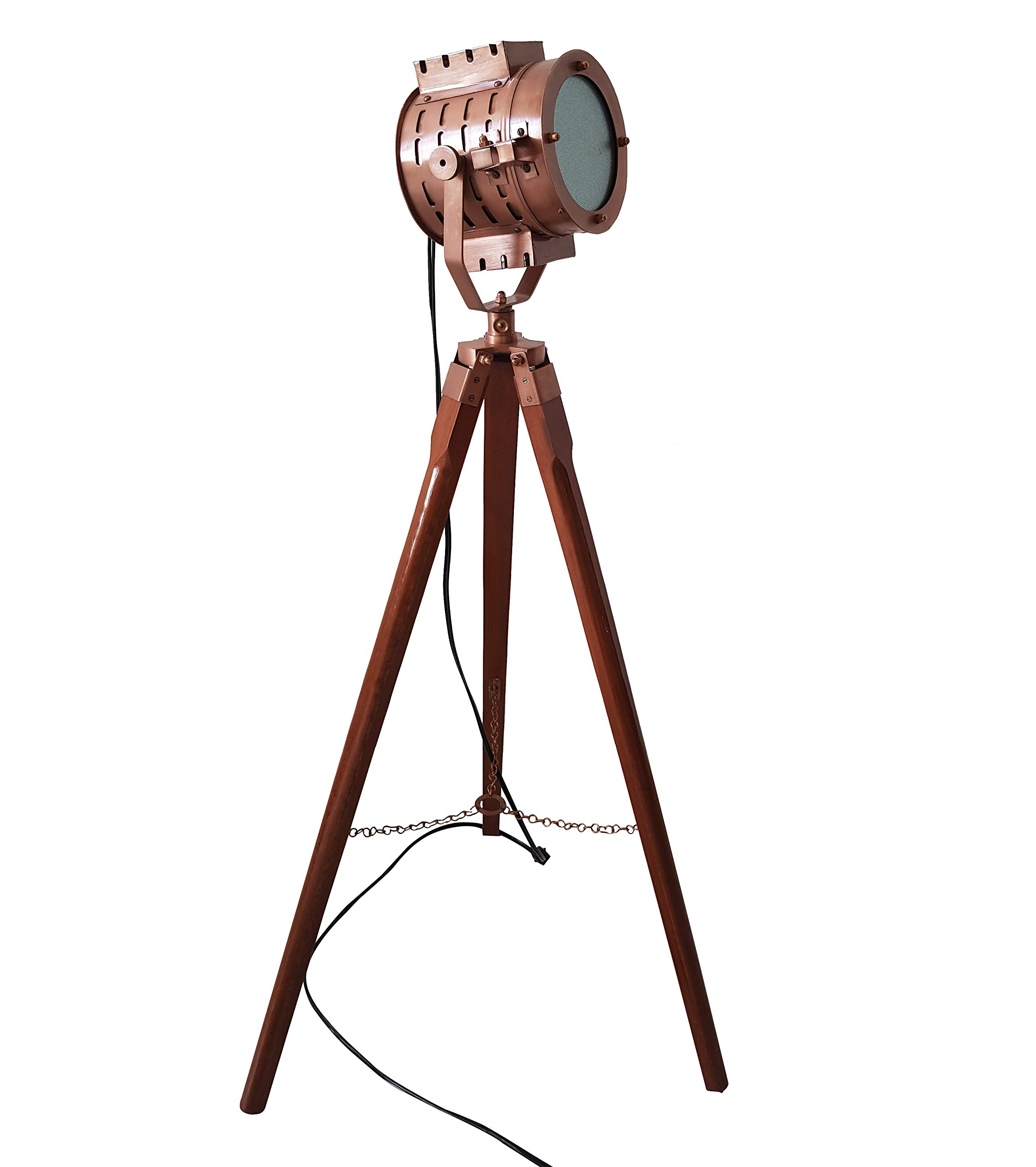 Nautical Searchlight Tripod Stand Authentic Spotlight Hollywood Spot Light