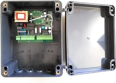 Central cuadro maniobras universal garaje puerta batiente de 1 o 2 hojas para motores de 220v: Amazon.es: Bricolaje y herramientas