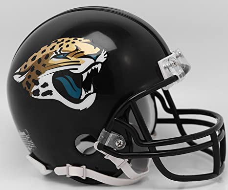 Amazon.com  Jacksonville Jaguars 2018 Logo Riddell Mini Helmet ... a8bc5a2b9