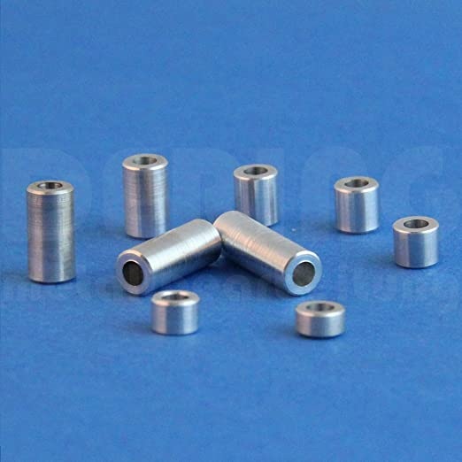 FASTON Casquillos distanciadores de aluminio M10 /Ø interior 10,5 mm 4 unidades casquillos distanciadores hembra distanciadores de casquillos /Ø exterior 24 mm