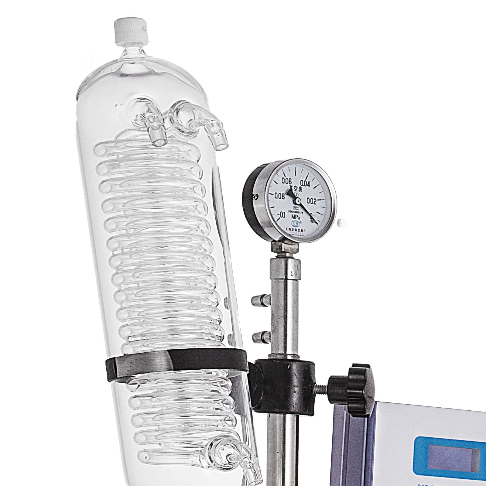 Mophorn 2L Rotary Evaporator R201D Lab Evaporator Rotary Evaporator Manual Lifting Rotavapor with LCD Screen 5-140rpm Professional Rotary Evaporator Set(2L, 5-140rpm) by Mophorn (Image #6)