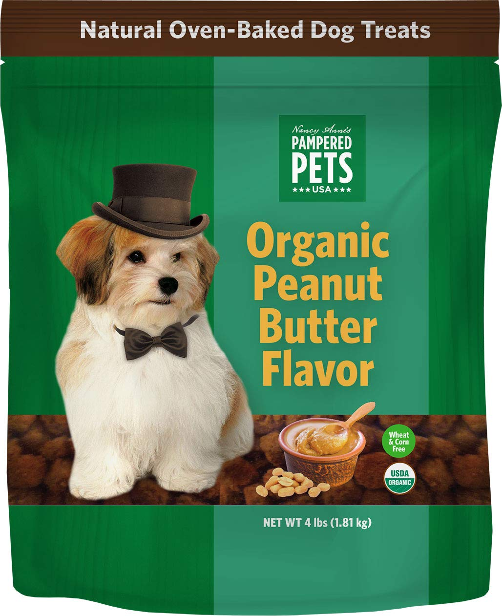 Pampered Pets Organic Peanut Butter Treats (4lb.) by Pampered Pets (Image #1)
