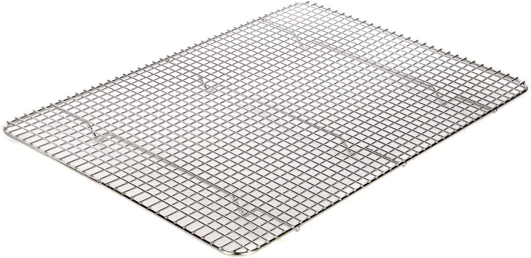 Lily's Home Metal Cooling Rack, Baking Rack, Bakeware for Cupcakes and Cookies, Wire Baking Stand/Tray 100% Stainless Steel, Oven Safe 17 x 12 Inch