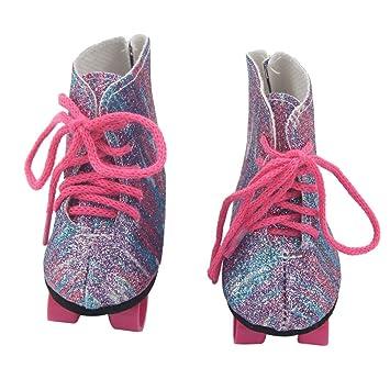 2d831492ff Dinglong Glitter Dolls Roller Skates Shoes For 18 Inch Our ...