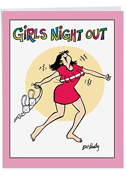 Hysterical Girls Night Out Birthday Greeting Card With Envelope 85 X 11 Inch