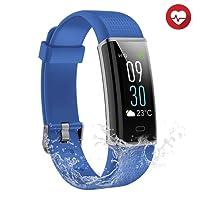 Semaco - Fitness tracker impermeabile, con schermo a colori, funzione di cardiofrequenzimetro, contapassi, monitoraggio del sonno e conteggio calorie, per uomini, donne e bambini