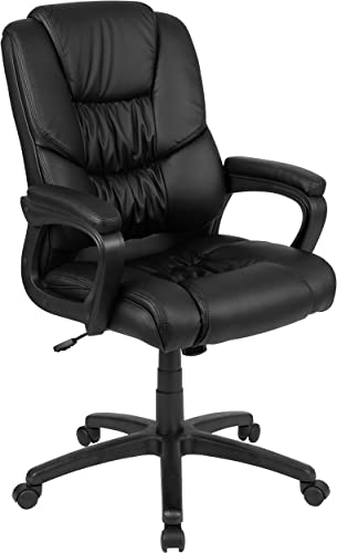 Flash Furniture Flash Fundamentals Big Tall 400 lb. Rated Black LeatherSoft Swivel Office Chair