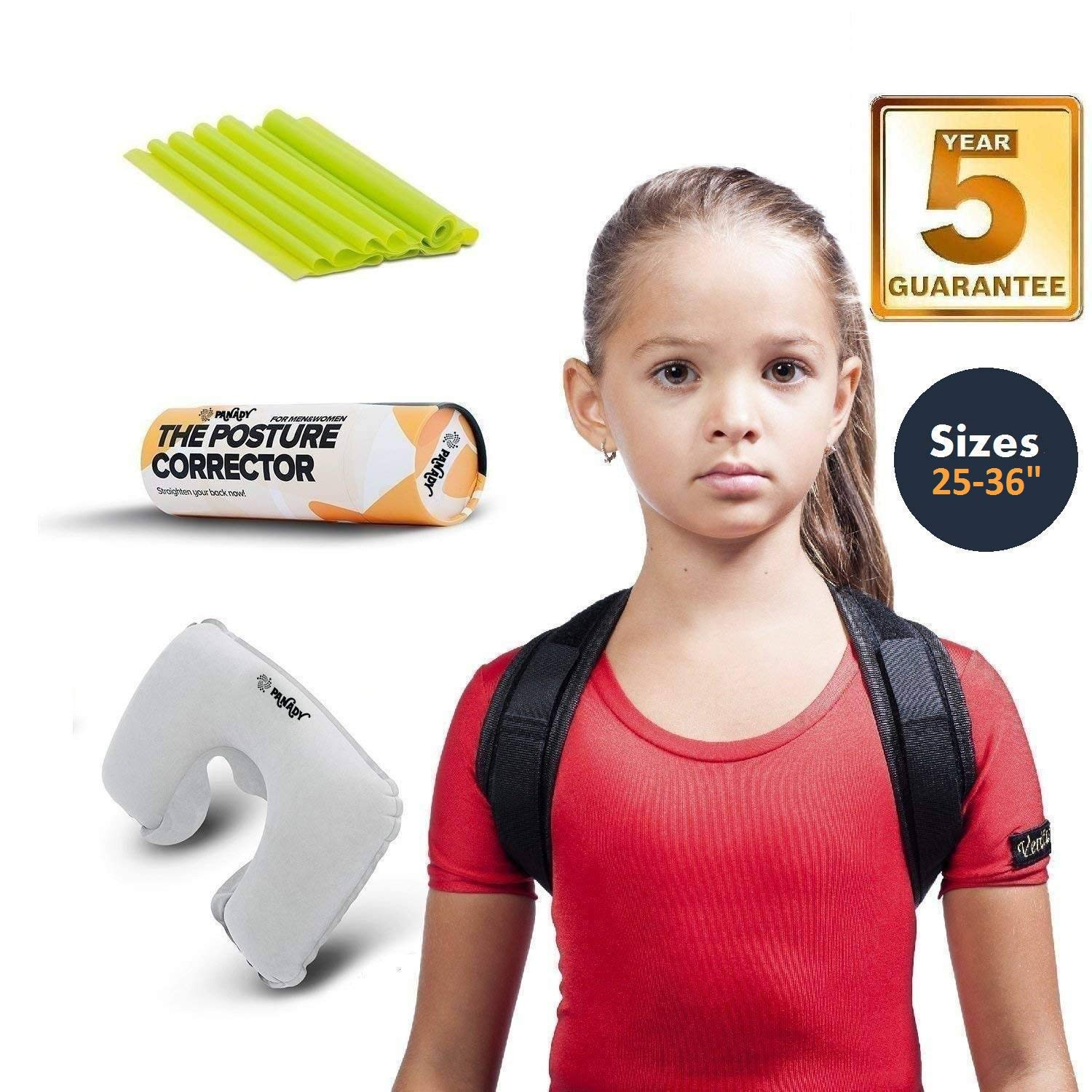 Posture Corrector, Comfortable With 5 YEARS WARRANTY, 28-35'' 8 to 22 years old teens by PANADY