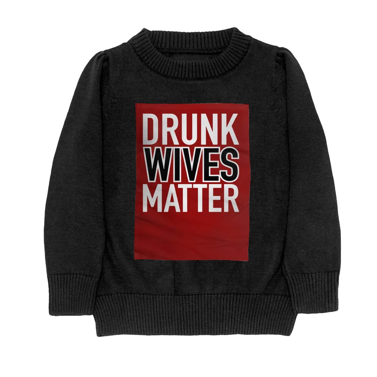 WWTBBJ-B Drunk Wives Matter Fashion Teenager Boys Girls Unisex Sweater Keep Warm