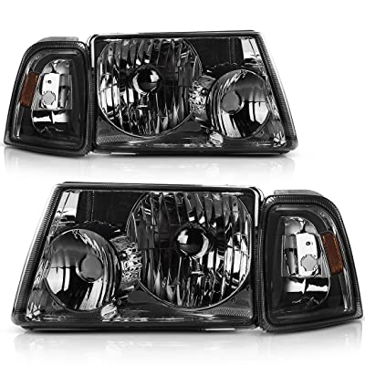 AUTOSAVER88 Headlight Assembly with Bumper Lights Compatible with 2001-2011 ford Ranger + Corner light, OE Projector Headlamps: Automotive