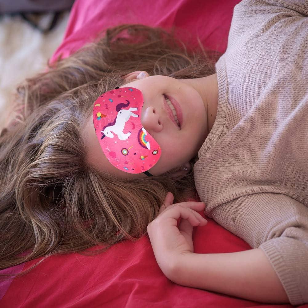 femme Yorwd Lot de 6 masques de sommeil licorne l/éger et doux avec bandeau r/églable pour les yeux pour homme enfant