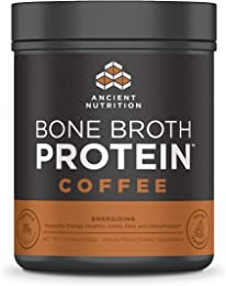 Ancient Nutrition Bone Broth Protein Powder, Coffee Flavor, 20 Servings Size